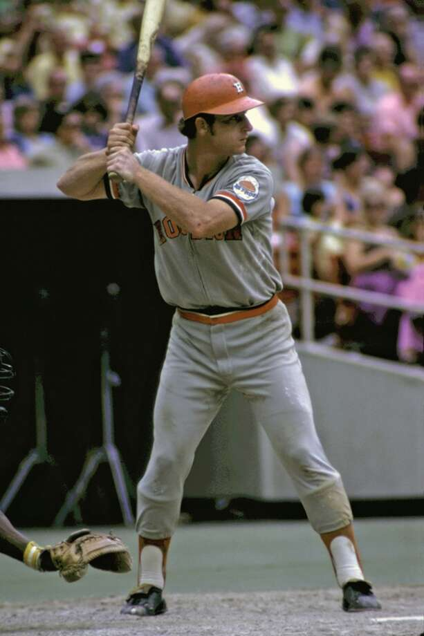 Infielder Doug Rader, of the Houston Astros, at bat during a game in July, 1972 against the Pittsburgh Pirates at Three Rivers Stadium in Pittsburgh, Pennsylvania. (Photo by:  Diamond Images/Getty Images) Photo: Diamond Images, Diamond Images/Getty Images