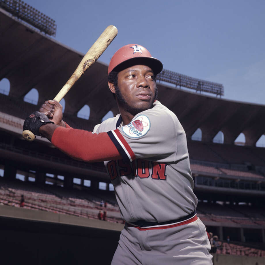 Outfielder Jimmy Wynn, of the Houston Astros, poses for a portrait prior to a game in May, 1972 against the St. Louis Cardinals in St. Louis, Missouri.  (Photo by:  Diamond Images/Getty Images) Photo: Diamond Images, Diamond Images/Getty Images / 1972 Diamond Images