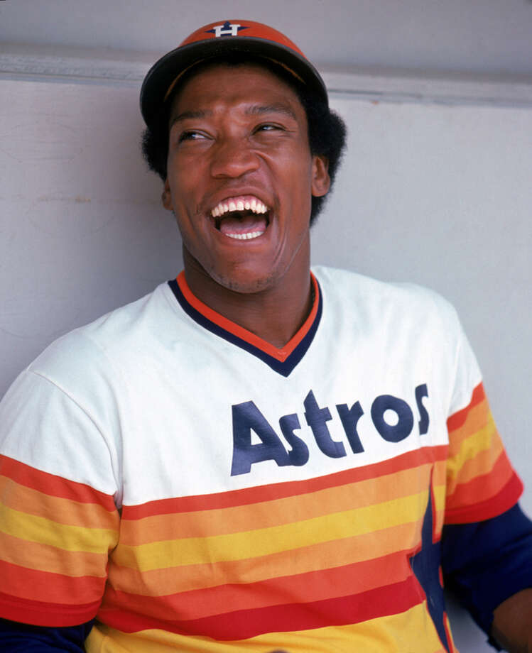 J.R. Richard #50 of the Houston Astros poses for a photo.  Richard played for the Astros from 1971-1980.   (Photo by Rich Pilling/MLB Photos via Getty Images) Photo: Rich Pilling, MLB Photos Via Getty Images / 1971 Rich Pilling