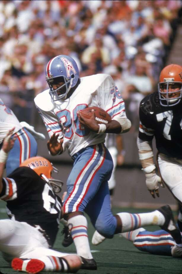 Running back Bob Gresham #36 of the Houston Oilers runs upfield during a game against the Cincinnati Bengals at Riverfront Stadium on September 23, 1973 in Cincinnati, Ohio. The Bengals defeated the Oilers 24-10. (Photo by Clifton Boutelle/Getty Images) Photo: Clifton Boutelle, NFL