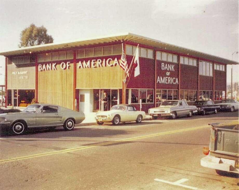 The original facade of the BofA Sausalito branch designed by William Wurster. City of Sausalito