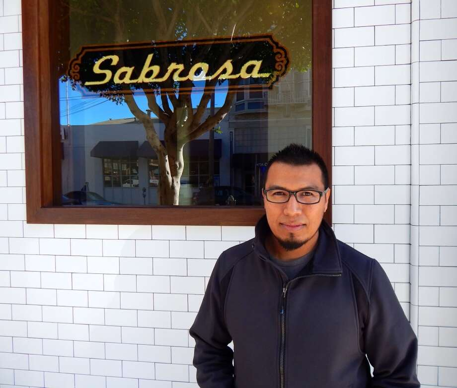 Jose Ramos in front of Sabrosa