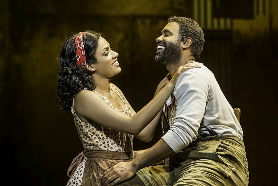 "Alicia Hall Moran as Bess and Nathaniel Stampley as Porgy in ""The Gershwins' Porgy and Bess"" at the Golden Gate Theatre. Photo: Michael J. Lutch"