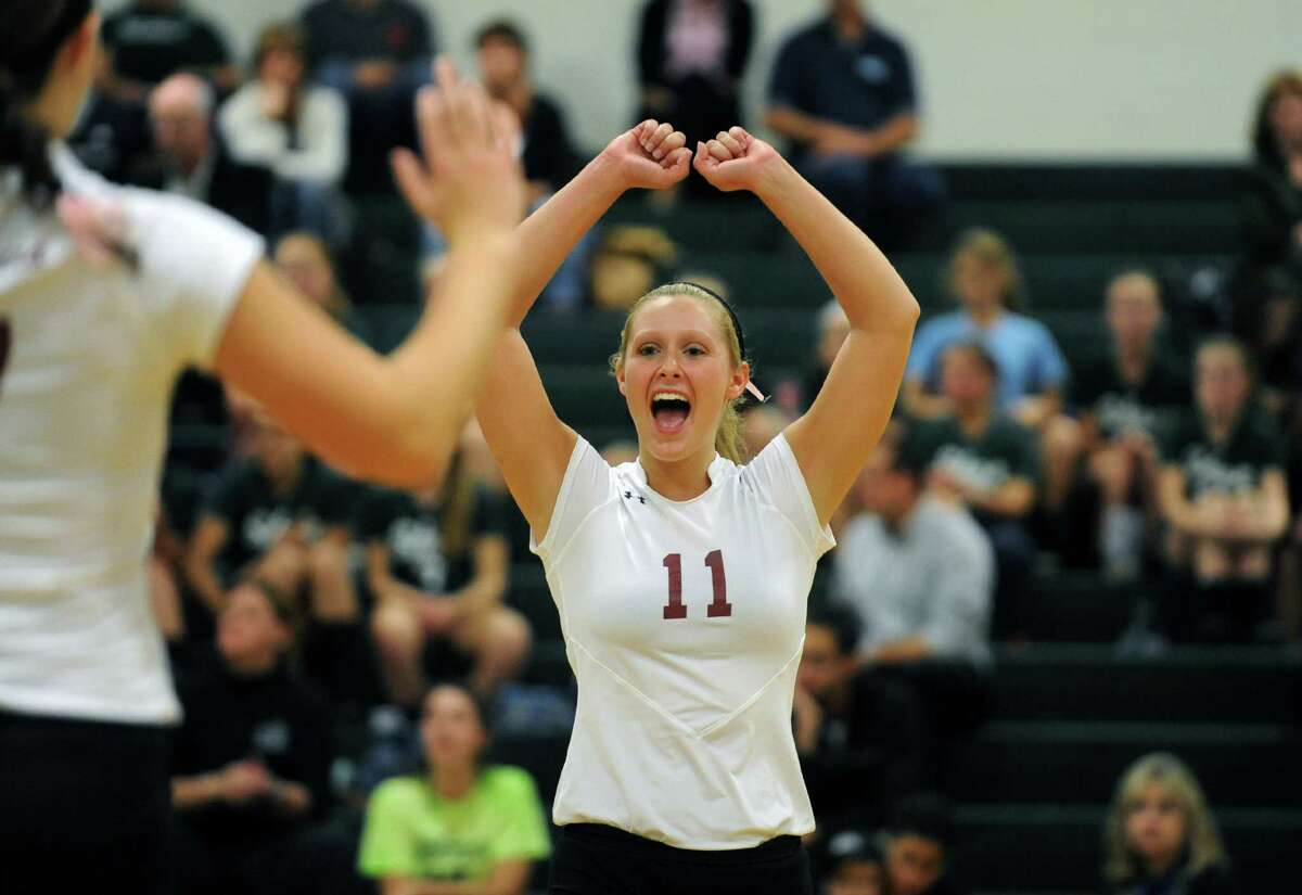 Burnt Hills junior setter Jessica Dillon during their high school girl's volleyball game against Shenendehowa on Tuesday Oct. 8, 2013 in Clifton Park, N.Y. (Michael P. Farrell/Times Union)