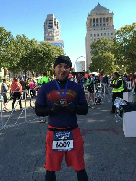 Justin Bravo is planning to run the marathon in San Antonio on Sunday morning before catching a plane to run another that afternoon in Las Vegas.