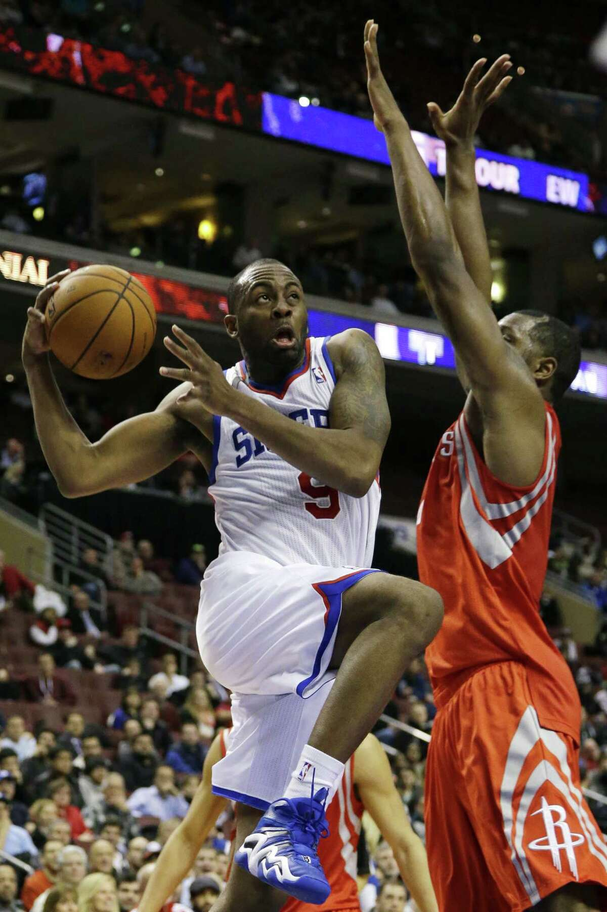 James Anderson, guard-forward with 76ers, averaging 9.9 points, 3.9 rebounds, 1.7 assists in 2014.