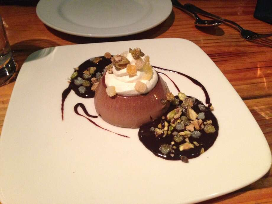 Chocolate panna cotta ($9)