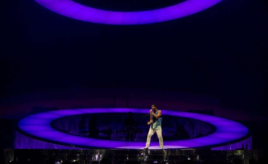 Drake performs at the Toyota Center, Wednesday, Nov. 13, 2013, in Houston. (Cody Duty / Houston Chronicle) Photo: Cody Duty, Houston Chronicle