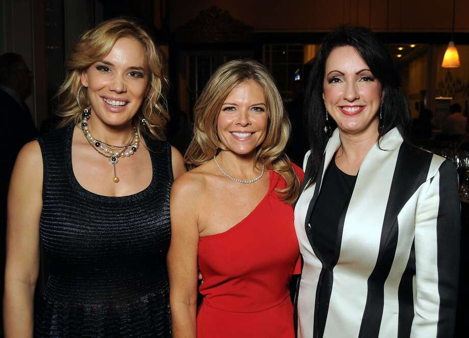 From left: Chairs Jenee Stefanakis, Stephanie Perkins and Alicia Smith Photo: Dave Rossman, For The Houston Chronicle