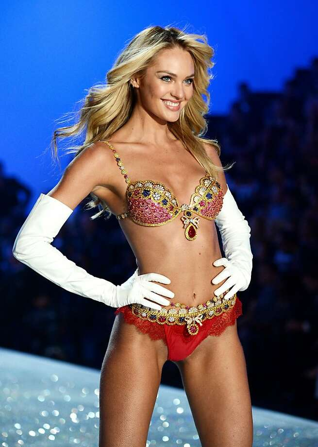 Model Candice Swanepoel walks the runway wearing the $10 million Royal Fantasy Bra during the 2013 Victoria's Secret Fashion Show at the 69th Regiment Armory on Wednesday, Nov. 13, 2013 in New York. (Photo by Evan Agostini/Invision/AP) Photo: Evan Agostini, Associated Press