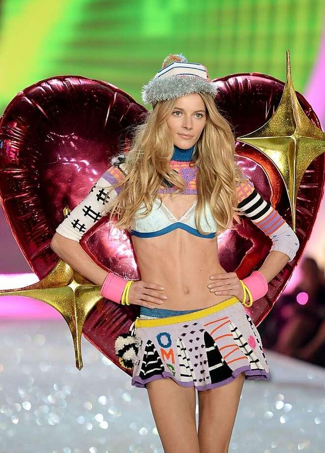 NEW YORK, NY - NOVEMBER 13:  Model Ieva Laguna walks the runway at the 2013 Victoria's Secret Fashion Show at Lexington Avenue Armory on November 13, 2013 in New York City.  (Photo by Dimitrios Kambouris/Getty Images for Victoria's Secret) Photo: Dimitrios Kambouris, (Credit Too Long, See Caption)