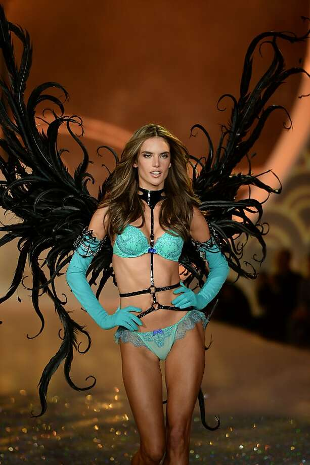 NEW YORK, NY - NOVEMBER 13:  Model Alessandra Ambrosio walks the runway at the 2013 Victoria's Secret Fashion Show at Lexington Avenue Armory on November 13, 2013 in New York City.  (Photo by Dimitrios Kambouris/Getty Images for Victoria's Secret) Photo: Dimitrios Kambouris, (Credit Too Long, See Caption)