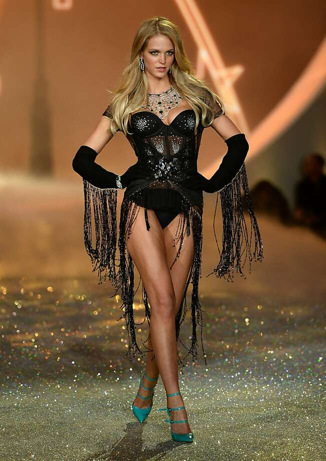 NEW YORK, NY - NOVEMBER 13:  Model Erin Heatherton walks the runway at the 2013 Victoria's Secret Fashion Show at Lexington Avenue Armory on November 13, 2013 in New York City.  (Photo by Dimitrios Kambouris/Getty Images for Victoria's Secret) Photo: Dimitrios Kambouris, (Credit Too Long, See Caption)