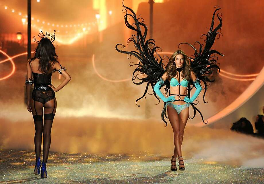 Model Alessandra Ambrosio walks the runway during the 2013 Victoria's Secret Fashion Show at the 69th Regiment Armory on Wednesday, Nov. 13, 2013 in New York. (Photo by Evan Agostini/Invision/AP) Photo: Evan Agostini, Associated Press