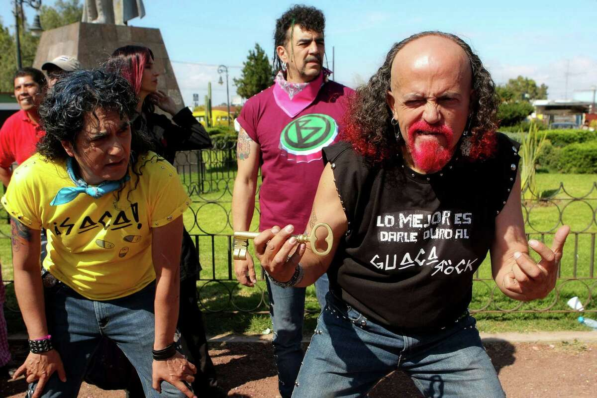 """A product of the early 80s, this group decided to combine elements of traditional Mexican music with urban-flavored rock and humor they called """"Guacarrock."""" YouTube video El Guacarrock del Santo - Source: botellitadejerez.com"""
