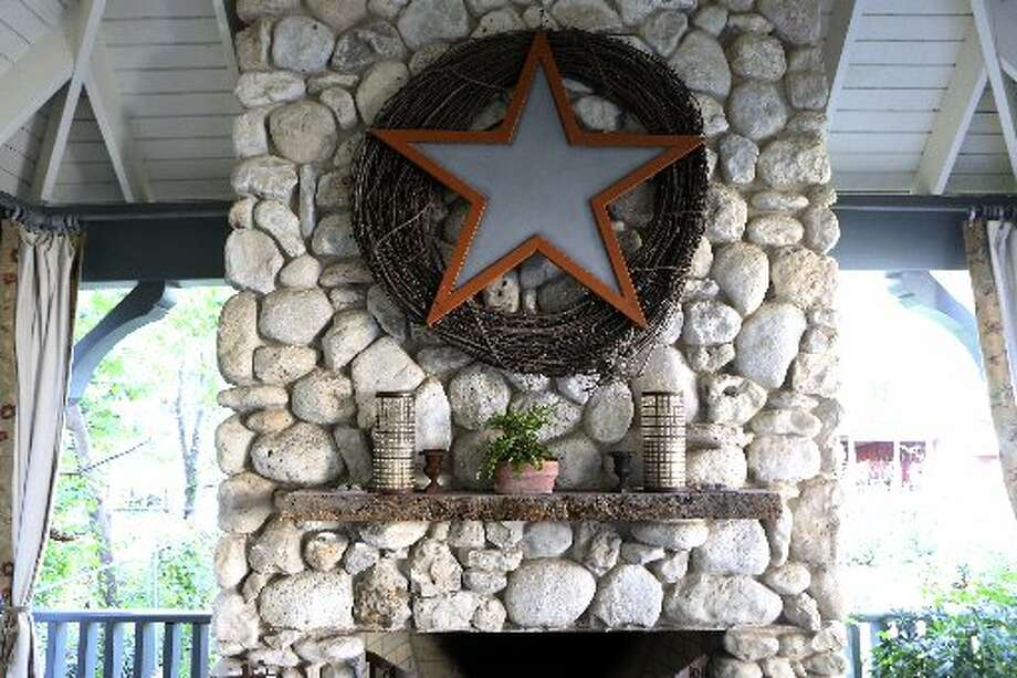 A close-up of the chimney in Bloodsworth's porch. Photo: Helen L. Montoya, San Antonio Express-News