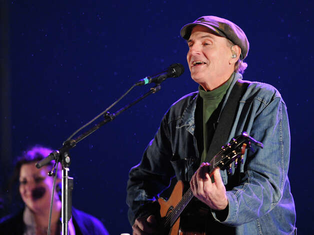 James Taylor performs during the Greenwich Town Party at Roger Sherman Baldwin Park, Saturday night, May 25, 2013. Photo: Bob Luckey / Greenwich Time