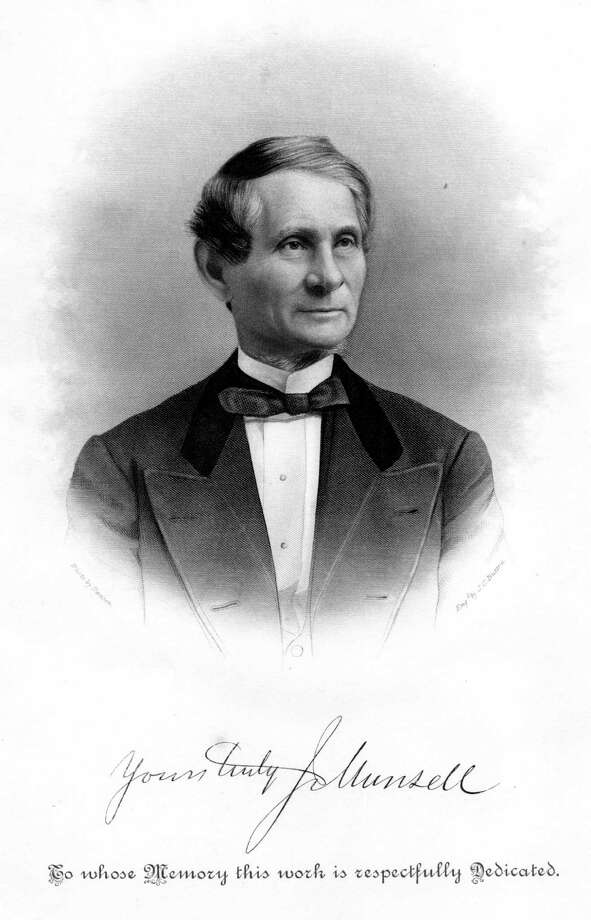 "Joel Munsell (1808 - 1880): He was a publisher most noted for his chronicle ""Annals of Albany,"" and was one of the founders of the Albany Institute of History & Art.  Read more about Munsell in our Albany Rural Cemetery section. Photo credit: History of Albany County New York"