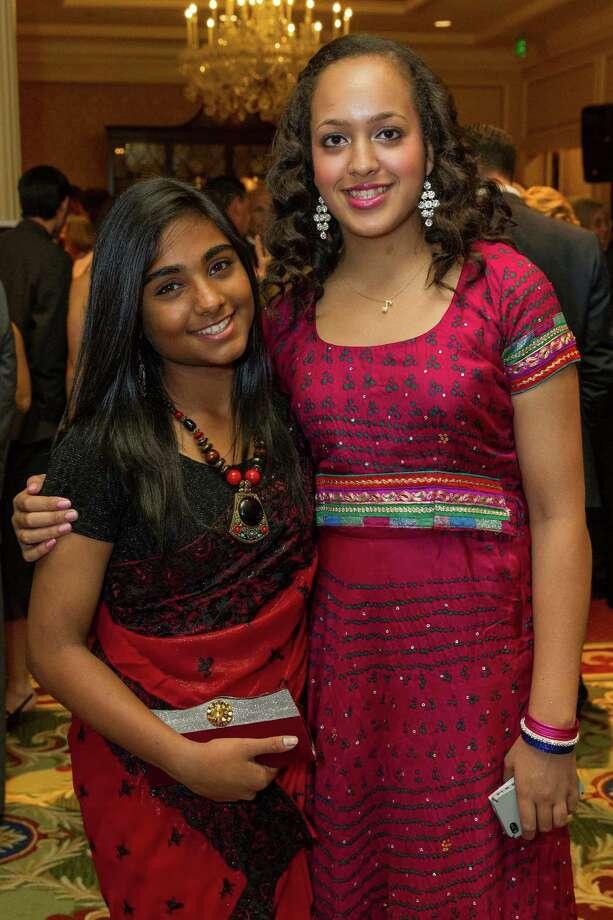 Vyjayanti Munagala and Avani Hamilton at the ReSurge Transformations Gala on November 9, 2013. Photo: Drew Altizer Photography/SFWIRE, Drew Altizer Photography / ©2013 by Drew Altizer, all rights reserved