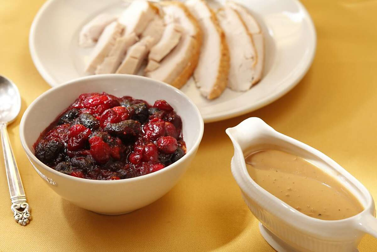 Cranberry-Dried Cherry Compote