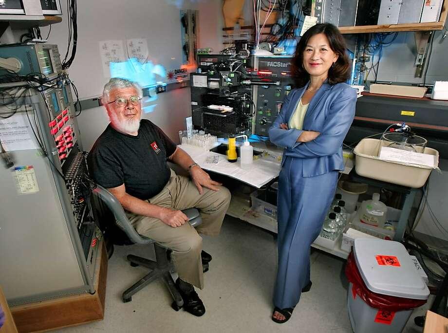 Stanford Professor Leonard Herzenberg won the Kyoto Prize for the FACS instrument in 2006. Photo: Chris Hardy, SFC