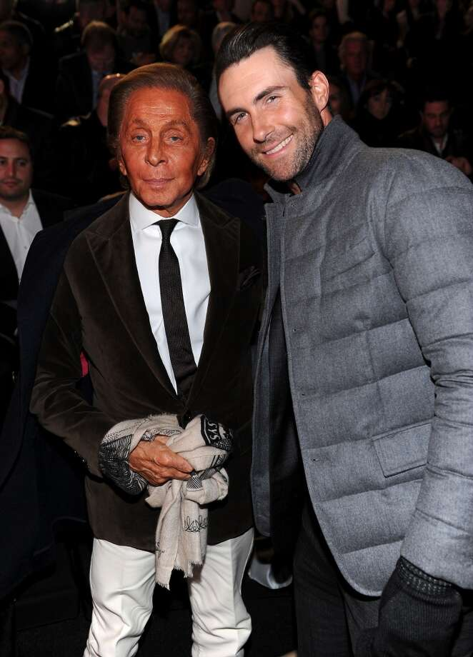 Designer Valentino Garavani and Adam Levine attends the 2013 Victoria's Secret Fashion Show at Lexington Avenue Armory on November 13, 2013 in New York City.  (Photo by Dimitrios Kambouris/Getty Images for Victoria's Secret) Photo: Dimitrios Kambouris, Getty Images For Victoria's Secr