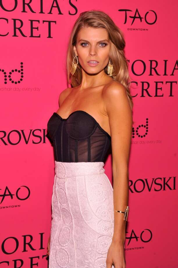 Model Maryna Linchuk attends the 2013 Victoria's Secret Fashion Show at TAO Downtown on November 13, 2013 in New York City.  (Photo by Stephen Lovekin/Getty Images) Photo: Stephen Lovekin, Getty Images