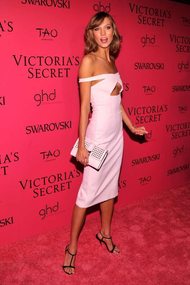 Model Karlie Kloss attends the 2013 Victoria's Secret Fashion Show at TAO Downtown on November 13, 2013 in New York City.  (Photo by Stephen Lovekin/Getty Images) Photo: Stephen Lovekin, Getty Images