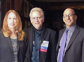 Barbara Taylor, Bobby Ocean and Mike Sugerman at theBay Area Radio  hall of fame induction.   L>R: Barbara Taylor; Bobby Ocean; Mike Sugerman.