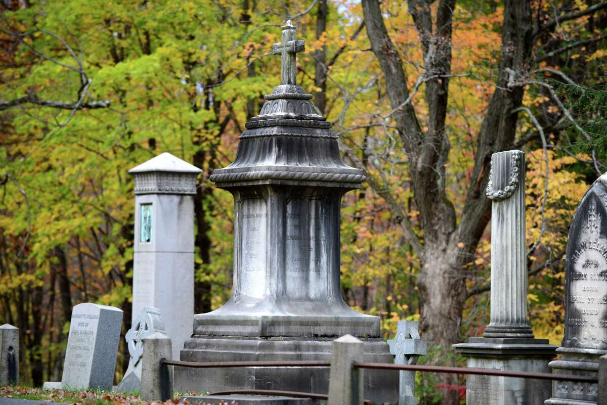 Edward C. Delavan was a wealthy wine merchant and proprietor of the Delavan House, Albany?s grandest hotel at the time. His burial monument is in section 53 of Albany Rural Cemetery. (Will Waldron/Times Union)