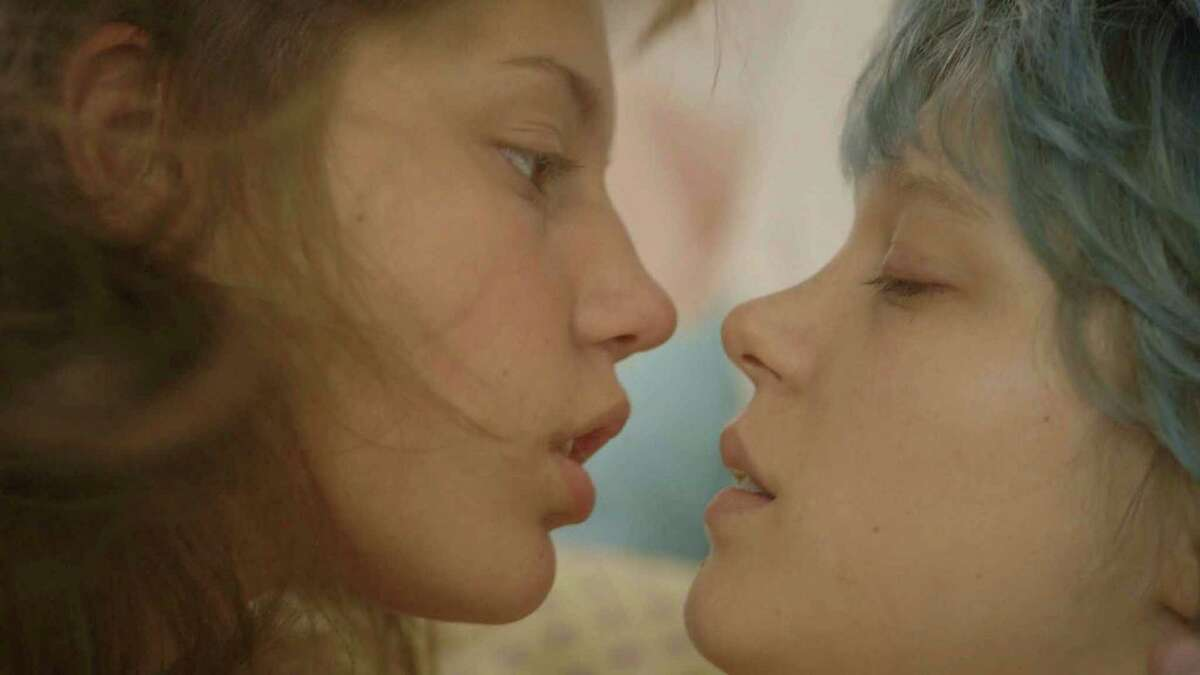 """Adele Exarchopoulos, left, and Lea Seydoux in """"Blue Is the Warmest Color,"""" in an undated handout image. a€œBlue Is the Warmest Color,a€ which has now opened in the U.S. after a win at the Cannes Film Festival, is a sexual coming-of-age story about a French provincial teenager with a strong hunger that has a distinctly carnal aspect and invokes an association between literal and sexual appetite. (Sundance Selects via The New York Times) -- NO SALES; FOR EDITORIAL USE ONLY WITH STORY SLUGGED FILM-BLUE ADV27. ALL OTHER USE PROHIBITED. -- PHOTO MOVED IN ADVANCE AND NOT FOR USE - ONLINE OR IN PRINT - BEFORE OCT. 27, 2013. ORG XMIT: XNYT18"""