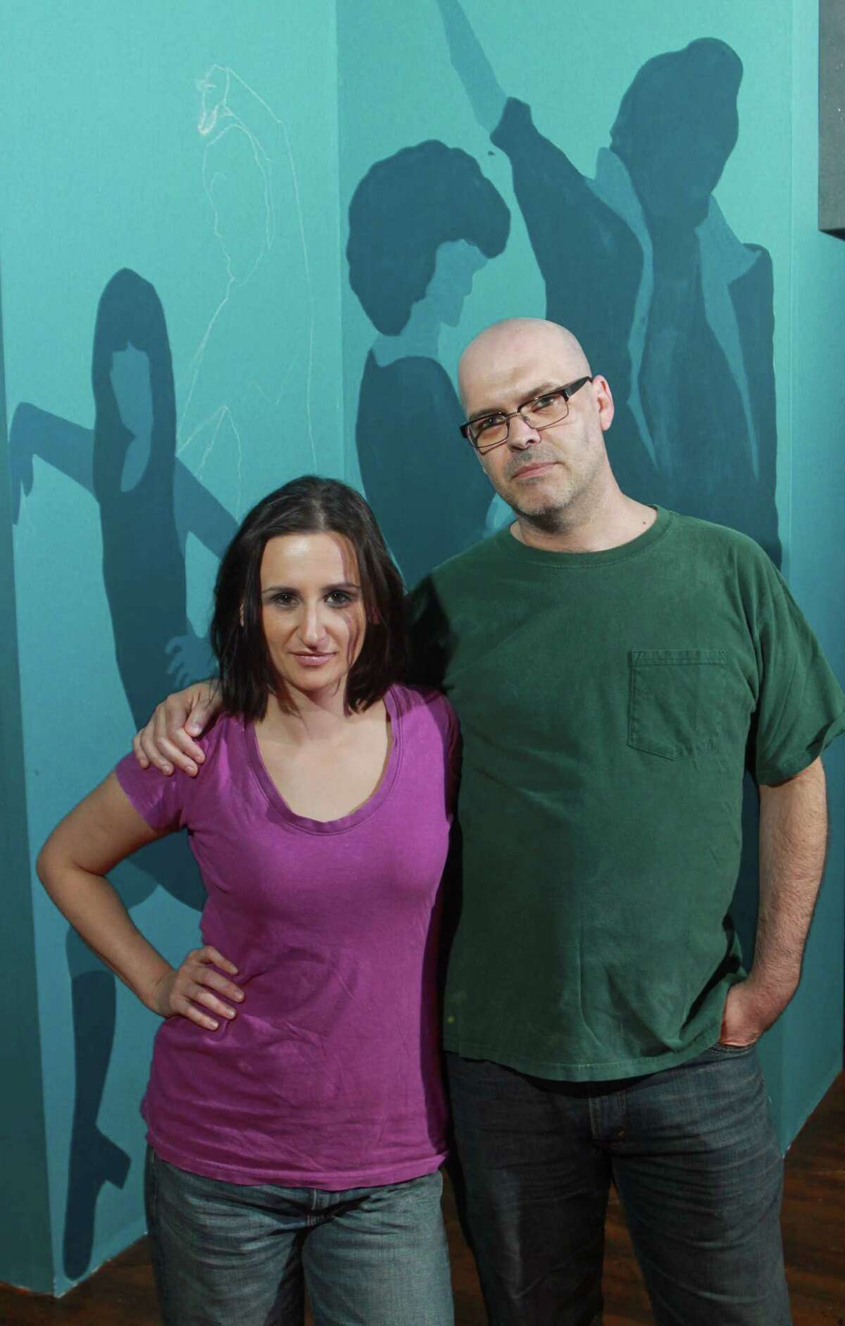 """(For the Chronicle/Gary Fountain, October 22, 2012) Playwright Miki Johnson and director Jason Nodler of Catastrophic Theatre's world premiere show """"Fleaven."""""""