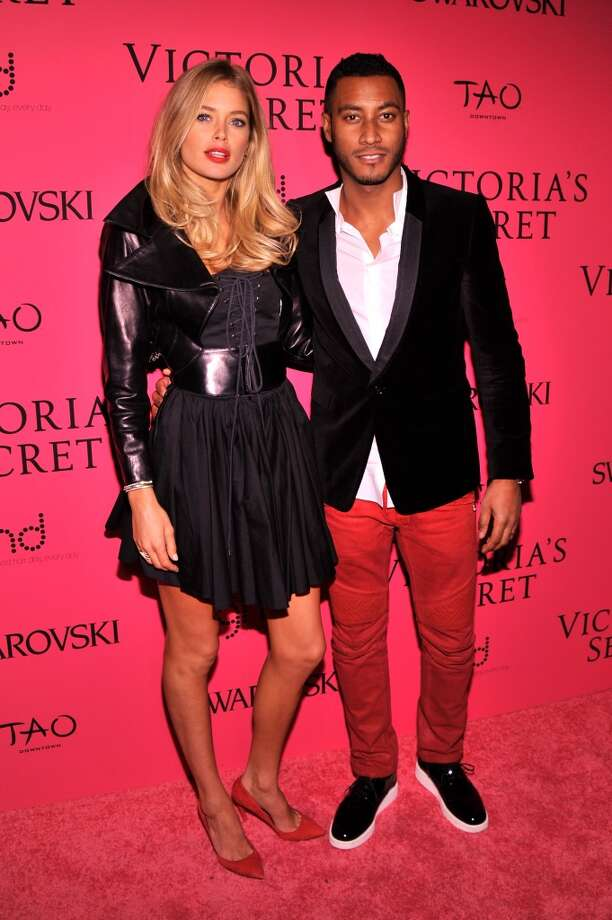 Doutzen Kroes and Sunnery James attend the 2013 Victoria's Secret Fashion Show at TAO Downtown on November 13, 2013 in New York City.  (Photo by Stephen Lovekin/Getty Images) Photo: Stephen Lovekin, Getty Images