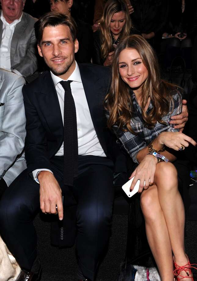 Johannes Huebl and Olivia Palermo attend the 2013 Victoria's Secret Fashion Show at Lexington Avenue Armory on November 13, 2013 in New York City.  (Photo by Dimitrios Kambouris/Getty Images for Victoria's Secret) Photo: Dimitrios Kambouris, Getty Images For Victoria's Secr
