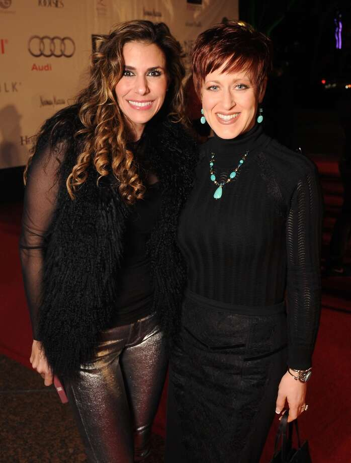 Lina Matar and Marci Mchana on the red carpet at Fashion Houston at the Wortham Theater Wednesday Nov.13. Photo: Dave Rossman, For The Houston Chronicle