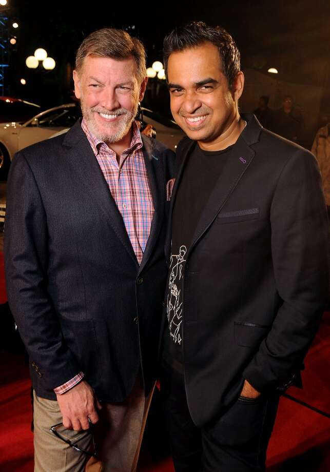 Neal Hamil and designer Bibhu Mohapatra on the red carpet at Fashion Houston at the Wortham Theater Wednesday Nov.13. Photo: Dave Rossman, For The Houston Chronicle