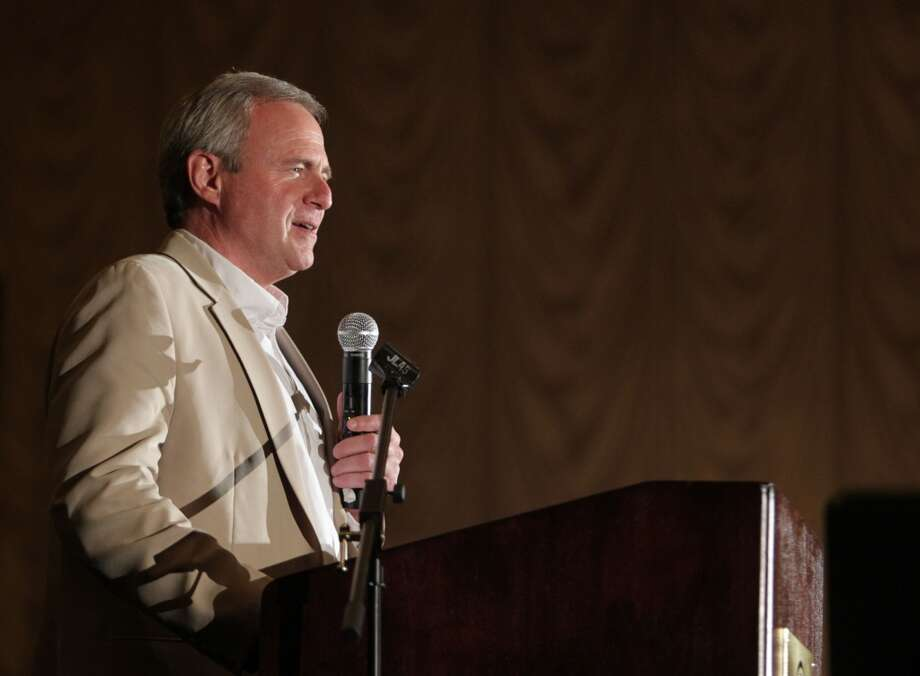 Guest Speaker Michael Morton speaks during the Texas Defender Service's Light of Justice luncheon at the Hilton Americas-Houston Tuesday, Nov. 12, 2013, in Houston.  ( James Nielsen / Houston Chronicle ) Photo: James Nielsen, Houston Chronicle