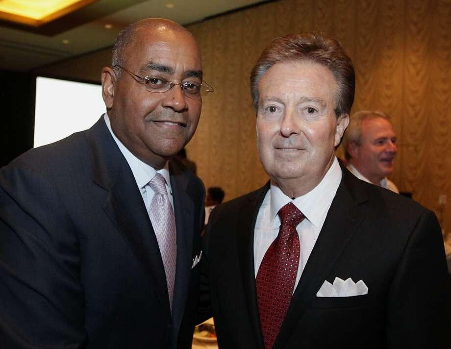 15. Rodney Ellis (Texas Senator, pictured on the left)City: HoustonParty: DemocratCash on hand: $2.32 millionSource:Texas Tribune Photo: James Nielsen, Houston Chronicle