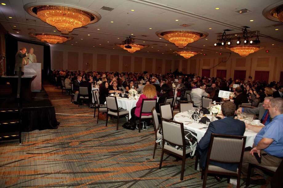 Companies gathered at the Westin Galleria for the event, held Nov. 7. The Houston Chronicle's Jack Sweeney addressed the crowd.
