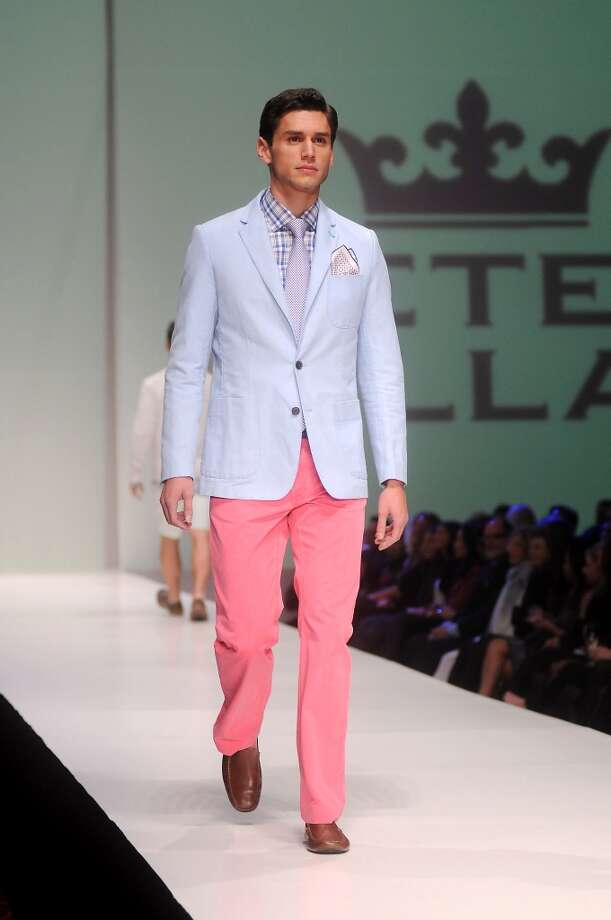 A model walks the runway during the Peter Millar show at Fashion Houston at the Wortham Theater Wednesday Nov.13,2013.  (Dave Rossman photo) Photo: Dave Rossman, For The Houston Chronicle