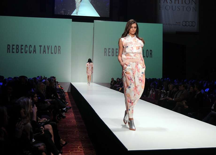 A model walks the runway during the Rebecca Taylor show at Fashion Houston at the Wortham Theater Wednesday Nov.13,2013.  (Dave Rossman photo) Photo: Dave Rossman, For The Houston Chronicle