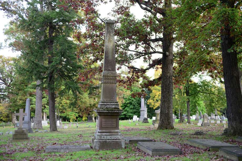 The grave of prominent Albany architect Marcus T. Reynolds. Reynolds designed a variety of banks as well as other notable Albany landmarks and notable Albany Rural Cemetery monuments. (Will Waldron/Times Union) Photo: WW / 00023993A