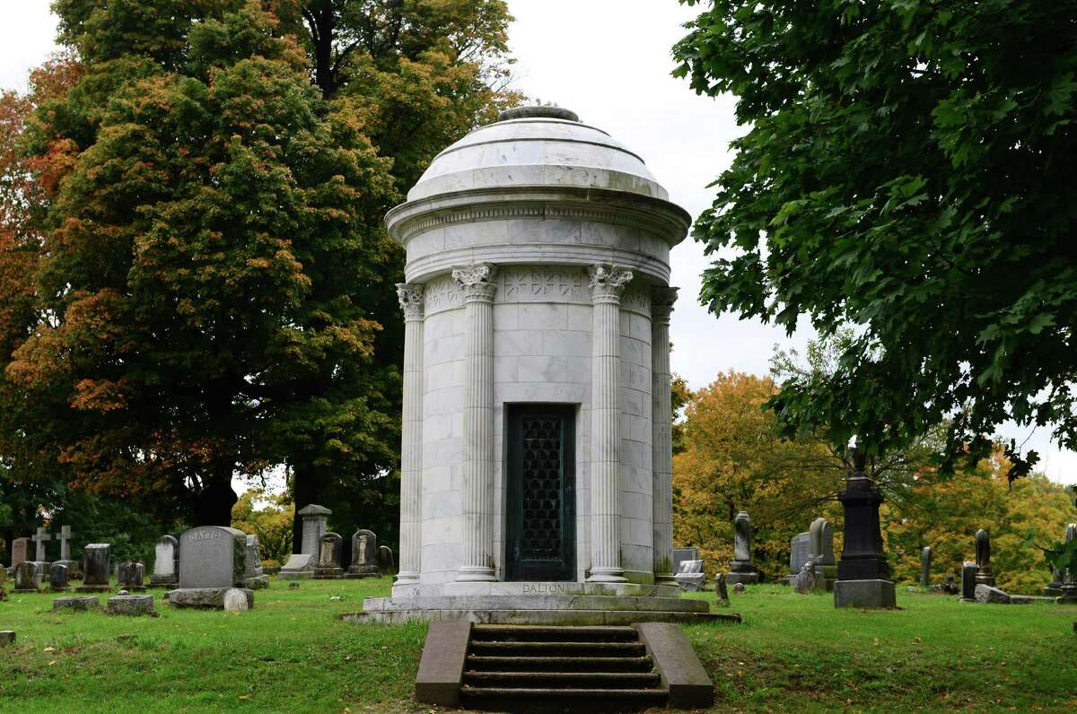 The Dalton family cinerarium at Albany Rural Cemetery in Menands was designed by noted Albany architect Marcus T. Reynolds. (Will Waldron/Times Union)