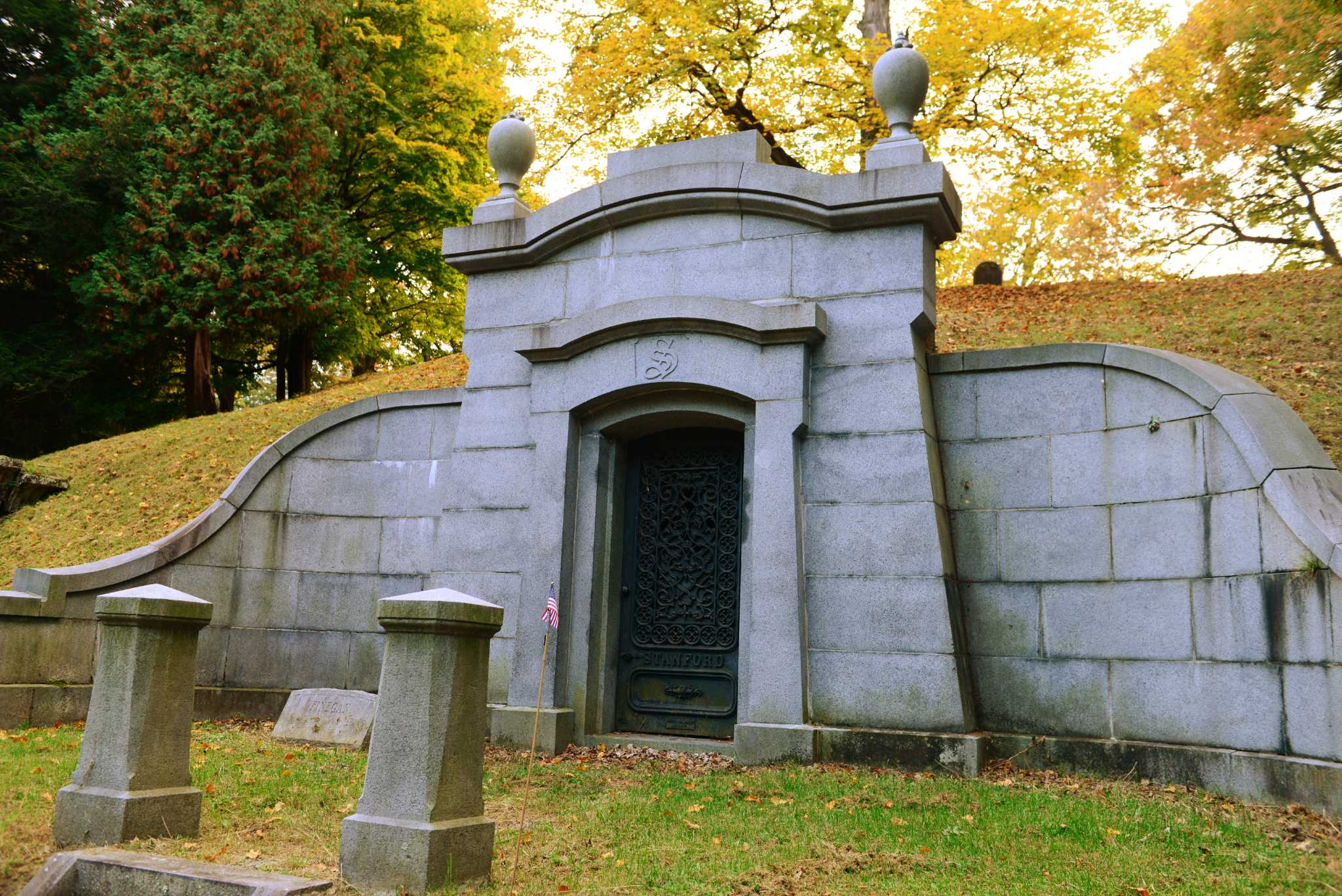 Stanford Mausoleum in Albany Rural Cemetery