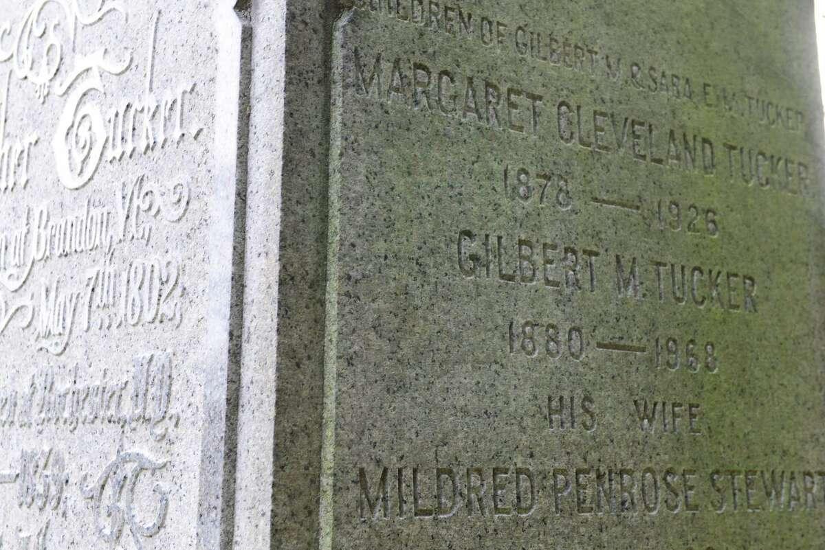 Grave marker for Titanic survivor Gilbert M. Tucker. (Will Waldron/Times Union)