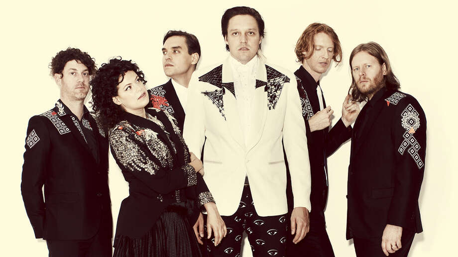 Arcade Fire performs at Bridgeport's Webster Bank Arena on Tuesday, March 18. Photo: Guy Aroch, Courtesy Of The Artist