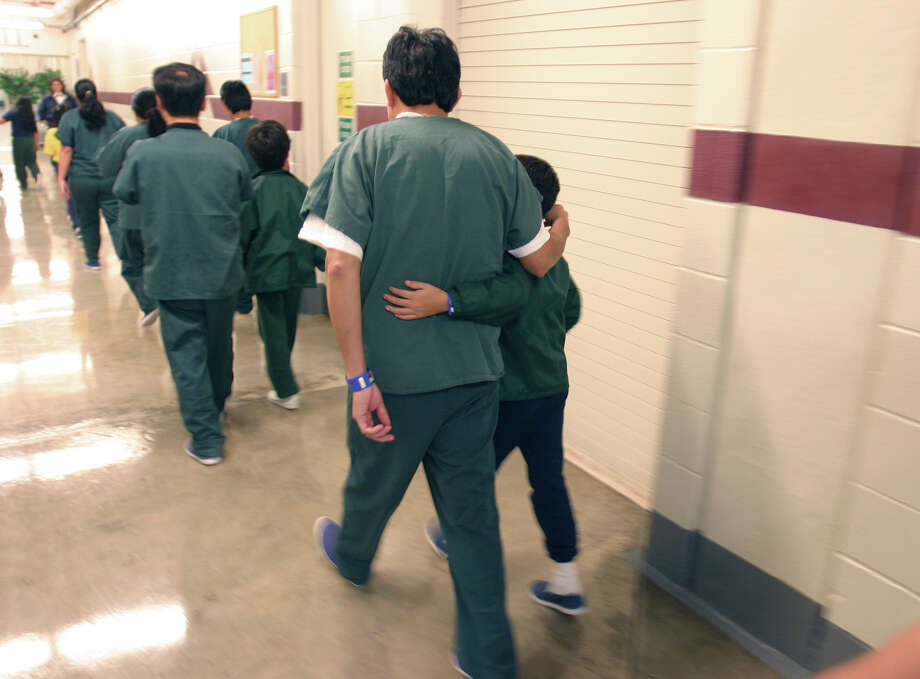 Family detainees walked through the T. Don Hutto Residential Center in Taylor, Texas, in 2007. The U.S. is locking up illegal immigrants at a record pace. Photo: Charles Reed, HOPD / DEPARTMENT OF HOMELAND SECURITY