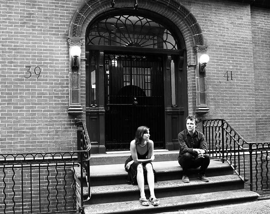 Julie Lynn and Geoffrey Scott of the band Slowness. Photo: Cassie Castellaw