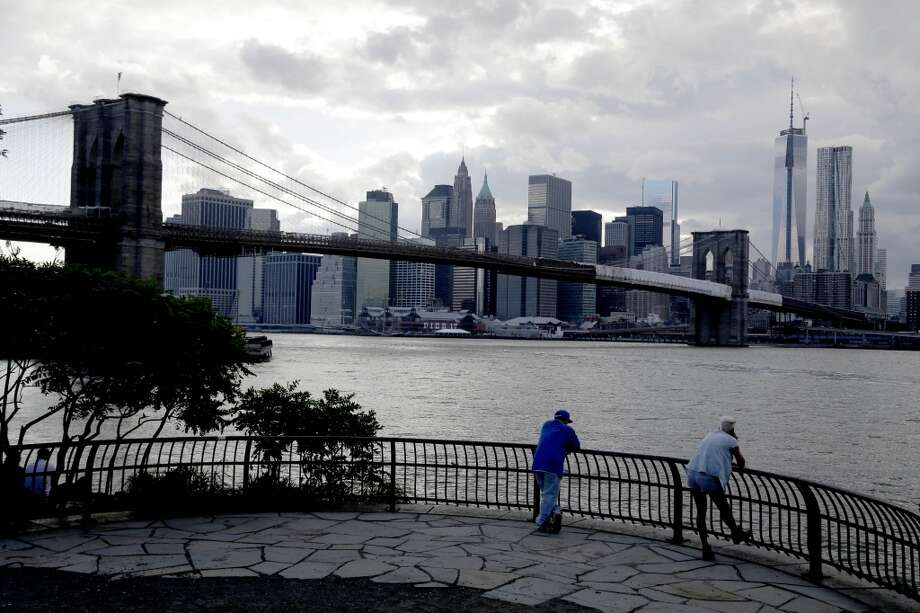 New York County had large donations in 2012. The skyline of lower Manhattan is seen past the East River in New York, June 11, 2013. (AP Photo/Seth Wenig) Photo: Seth Wenig, Associated Press