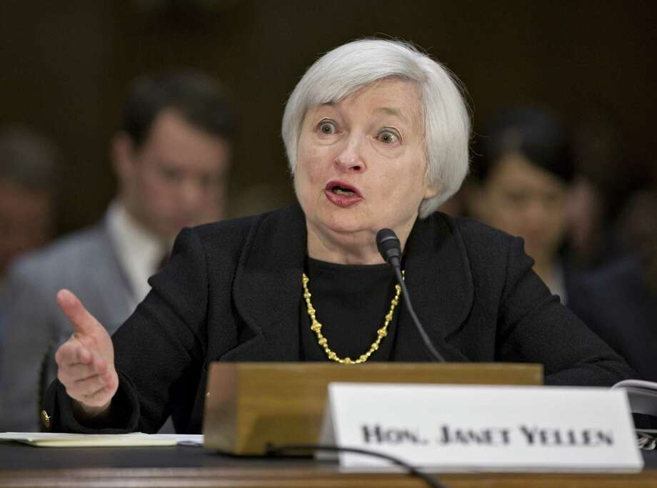 Janet Yellen, President Obama's nominee to succeed Ben Bernanke as Federal Reserve chairman, testifies Thursday at her confirmation hearing before the Senate Banking Committee on Capitol Hill. Photo: Associated Press